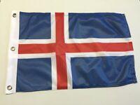 "ICELAND TABLE FLAG 9/"" X 6/"" 22.5cm x 15cm flags ICELANDIC"