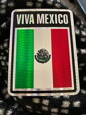 Viva Mexico Flag Sticker Vintage 80's Classic Prismatic  Decal Rare