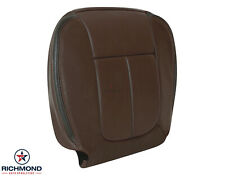 2010 2011 Ford F150 Platinum Edition-Driver Side Bottom Leather Seat Cover Brown