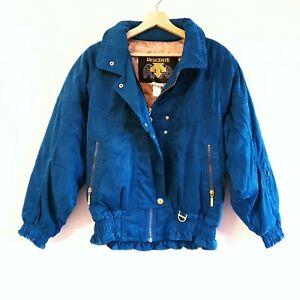 Descente Womens Size US 6 AU 10 Teal Green Gold Retro Ski Puffer Jacket