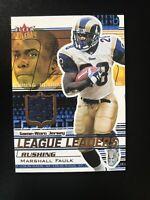 2002 Fleer Ultra Marshall Faulk GAME WORN JERSEY HOF League Leaders