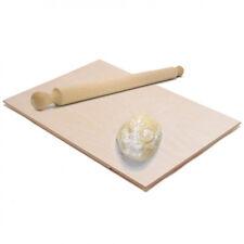 Asse Per Impastare Spianatoia In Legno Con Mattarello Pasta Pizza 58 x 38 cm