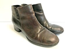 BORN size 8.5 HOLMAN brown mushroom leather ankle zip boots booties shoes
