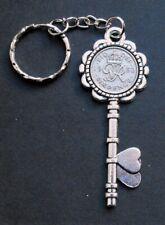 1950 70th birthday lucky Sixpence key Charm key ring a wedding anniversary royal