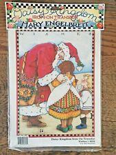 New Mary Engelbreit Wishes Iron On Transfer Daisy Kingdom Vtg Santa Children