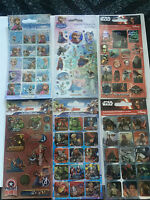 Childrens Character Fun Foiled Re-Usable Reward Stickers Star Wars Marvel Frozen