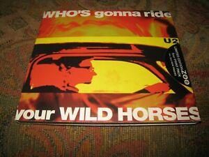 U2 WHO'S GONNA RIDE YOUR WILD HORSES SEALED ZOO TOUR PRINT PACK UK CD SINGLE.