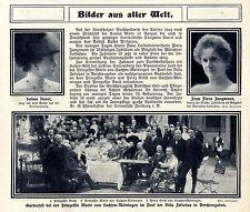 Gartenfest bei Prinzessin Marie in Berchtesgarden Historische Aufnahme von 1910