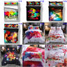 Colorful Animal Music Quilt Duvet Doona Cover Set Single Queen King Size Bedding