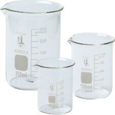 Single 214T2, 3.3 Boro, Griffin Low Form, Glass Beaker Set - 3 Size Extra large