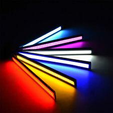 LUCI A LED DIURNE 17cm PER AUTO BIANCO/BLU/ROSSO/GIALLO COB LED IMPERMEABILE