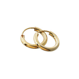 PAAR 585 gelbGOLD Creolen Ohrringe Ohrschmuck 2,5mm Dicke rund Goldohrringe 15mm