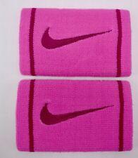Nike Doublewide Wristbands Magenta Tennis Men's Women's