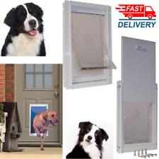 "NEW Extra Large Deluxe Aluminum Frame Pet Door Magnetic Flap Dog Cat 10.5""X15 """