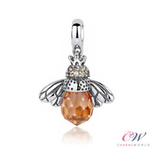 Bee Charm 925 Sterling Silver Charm 💞 Amber Zircon