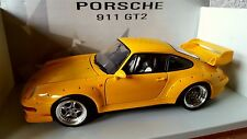 PORSCHE 911 COUPE TYPE 993 GT2 JAUNE UT MODELS 1/18 FIRST EDITION