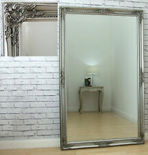 "Leon Extra Large Vintage Full Length Wall Leaner Mirror Antique Silver 40"" x 64"""