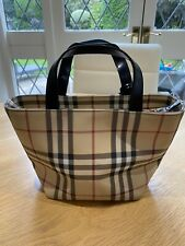 Authentic Vintage Burberry Small Tote Bag In Nova Check