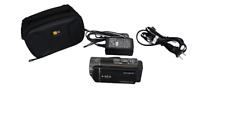 Sony HandyCam HDR CX130 Video Camera Camcorder -Black, Charger, Battery, Case