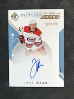 2018-19 SP AUTHENTIC JAKE BEAN '19-20 ROOKIE FUTURE WATCH AUTO #ed 928/999
