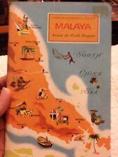 1958 book American Geographical Society MALAYA Around the World Program