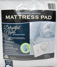 Heated Mattress Pad Queen Heating Biddeford Dual Side LIghted Controls Auto Off