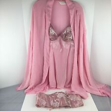 NEW Victoria Secret Collection Embroidered Babydoll Gown w/ Robe Corset Large
