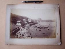 Scarborough South Sands   . Victorian Photograph mounted on album card