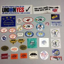 New listing Huge Lot Of Coal Mining Sticker Some Reflective Large Union Umwa etc. 35+ Decals