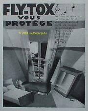 PUBLICITE FLY TOX INSECTICIDE AU CLAIR DE LA LUNE SIGNE EREL DE 1931 FRENCH AD