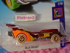 OLLIE ROCKET #134 USA 50✰red/orange☀GLOW☀Track Stars✰2018 Hot Wheels case G