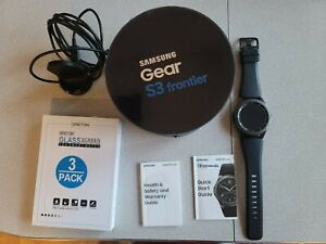Samsung Gear S3 Frontier 46mm Stainless Steel Case Black Smart Watch -...