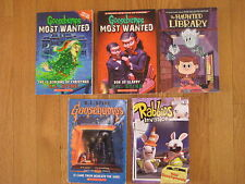 Spooky kids BOOK LOT Goosebumps R L Stine The Haunted Library Rabbids  halloween