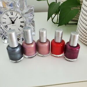 Lot of 5 pc Nail Polish 15 mL/0.5 oz Collection Red Gray Pink Shimmer Purple Set