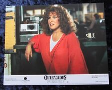 OUTRAGEOUS FORTUNE lobby card BETTE MIDLER mini uk card