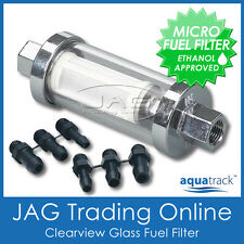 CLEARVIEW INLINE GLASS FUEL FILTER KIT - Universal/Boat/Outboard/Ride-on Mower
