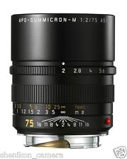 100% New Unused Leica APO-SUMMICRON-M 75mm F2 f/2 ASPH. 6-Bit M 240 M9 11637