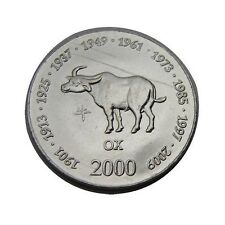 elf Somalia Republic 10 Shilling 2000 Zodiac Ox