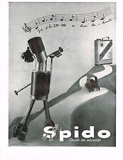1930's BIG Vintage SPIDOLEINE Spido Motor Oil R. L. Dupuy Trumpet Art Print AD