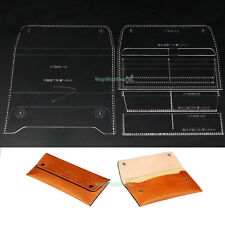 Wallet 859 Templates Acrylic Leather purses Pattern Craft DIY Tools Model Hobby