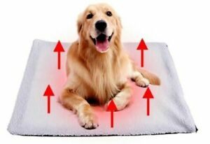 Super Soft Faux Fur Self Heating Dog Cat Bed Pad Blanket Warming Thermal Large
