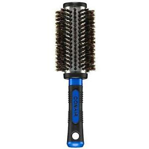 Conair Pro Hair Brush with Boar Bristle, Metal, Round, Large - Brush color may