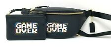 Coach Women's Black Pebble Leather Pac-Man Game Over Belt Bag & Wristlet F72909