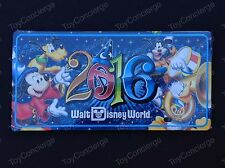 DISNEY Parks 2016 SORCERER MICKEY MOUSE & Friends LICENSE PLATE NEW