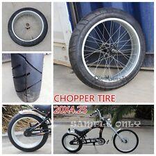 "20"" 20X4.25 WHEEL SLEEK TYRE ALLOY RIM CUSTOM HARLEY CHOPPER PUSH BIKE BICYCLE"