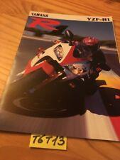 Yamaha YZF-R1 1000 R1 YZF prospectus brochure catalogue catalog publicité