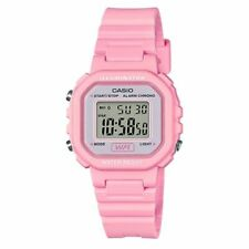 Casio LA20WH-4A1, Digital Chronograph Watch, Pink Resin Band, Alarm