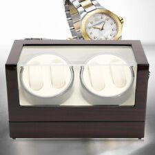 4+0 Automatica legno Scatola Porta Orologi Rotazione Vetrina Watchwinder Box DHL