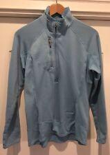 Ladies Patagonia Light Blue Half Zip Long Sleeve Thermal Pullover - Size M