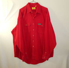 Duck Head Mens Long Sleeve Oxford Button Down Dress Shirt Red EXTRA LARGE XL